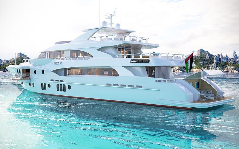 Gulf Craft�s  SuperYacht, the Majesty 155
